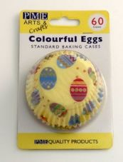 Colourful Eggs Baking Cases